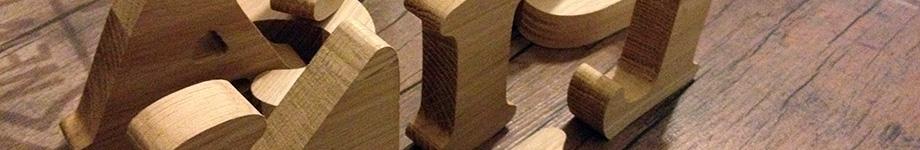 Litere lemn stejar