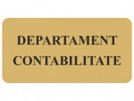 Placa semnalistica departament contabilitate gravata - cod SV02