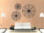Set 3 busole decorative din Aluminiu-Dibond decupate CNC - cod DB01