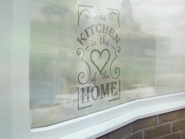 Sticker sablare geam