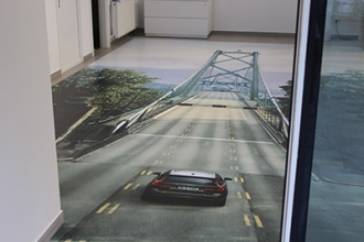 Autocolant 3D podea Volvo