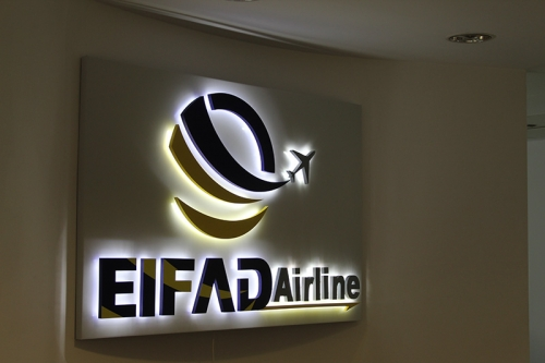 litere luminoase eifad airline