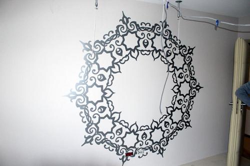 sticker mandalla wall art