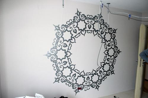 sticker perete personalizat mandalla