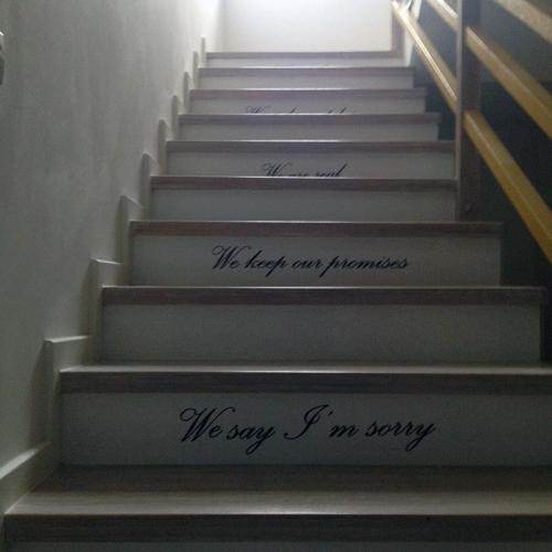 stickere decorative aplicate pe scari
