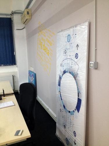 tablouri grand canvas + stickere wall art